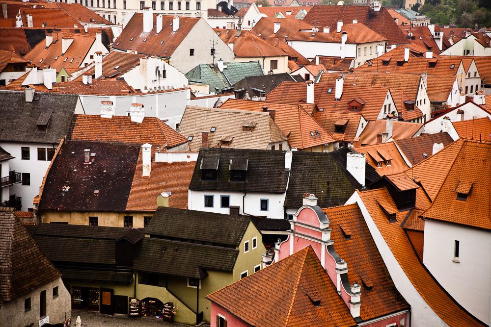 Cesky Krumlov - roof tops