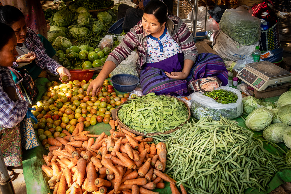 Produce market - Myanmar