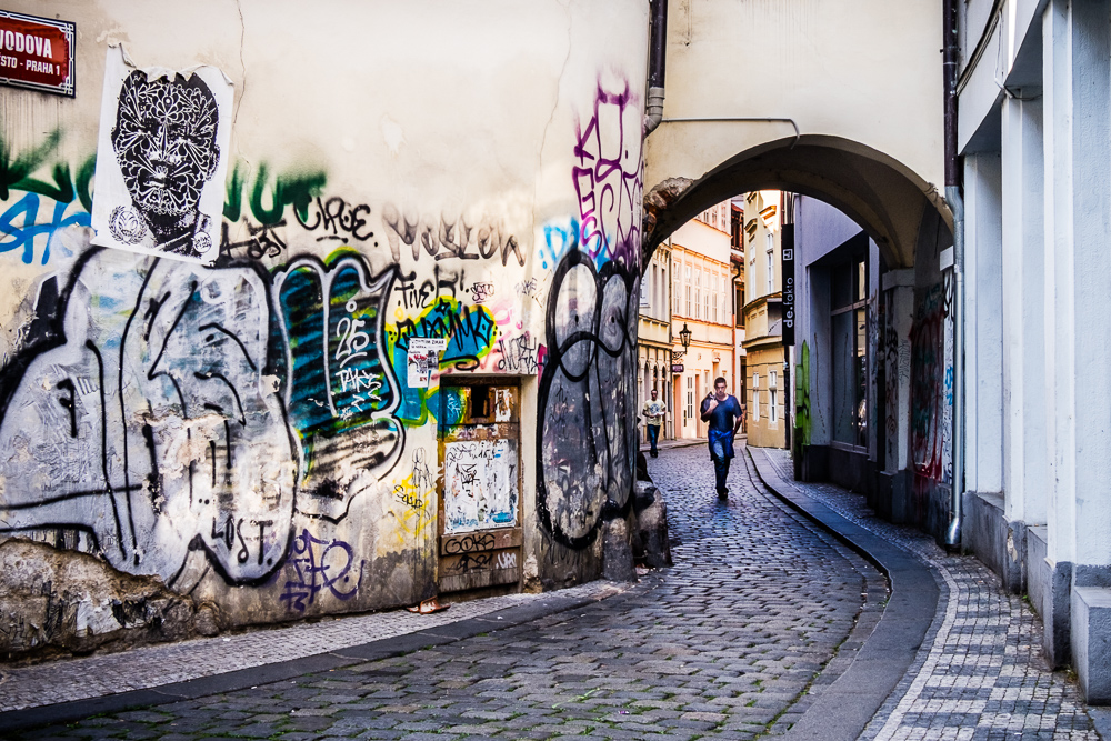 In Prague, Czech Republic, very near the Old Town Square.